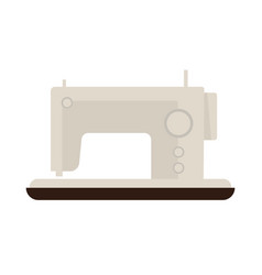 Sewing machine isolated on white flat vector