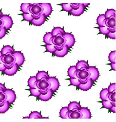 Pink roses seamless pattern background vector