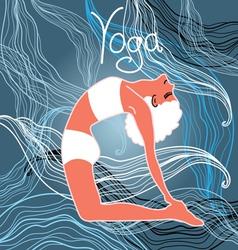 Silhouette yoga vector