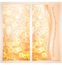 Elegance greeting card with bubbles vector