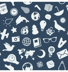 The pattern of various objects and symbols vector