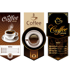 Coffee templates vector