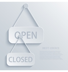 Modern open closed light icon background vector