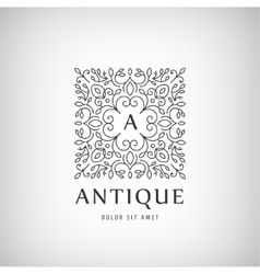 Luxury vintage logo icon vector