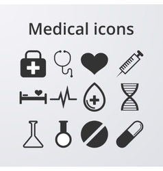 A set medical icons vector