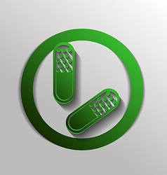 Pill tablet icon vector