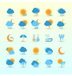 Weather forecast and meteorology set vector