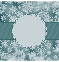 Cute color christmas card EPS 8 vector image