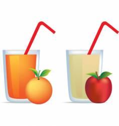 orange and apple juice vector image