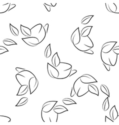 Seamless of sketch cups vector