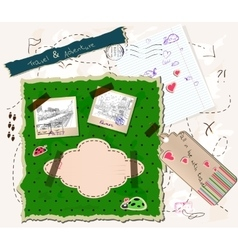 Scrapbooking set vector