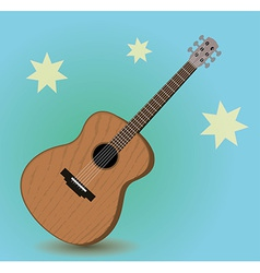 Acoustic guitar vector image
