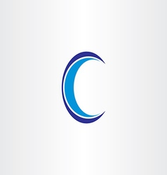 blue letter c icon design vector image
