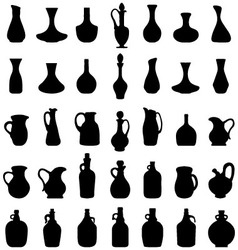 bowls and bottles vector image vector image