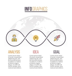 Business infographics Timeline with 3 steps vector image