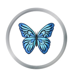 Butterfly icon in cartoon style isolated on white vector