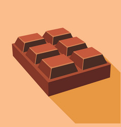 Chocolate icon flat style vector