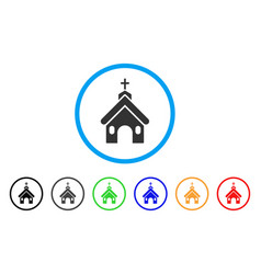 church rounded icon vector image vector image