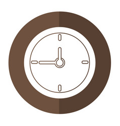 clock time school shadow vector image