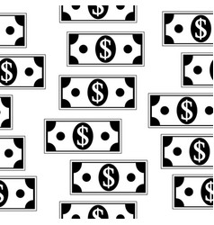 dollar icons seamless pattern on white vector image