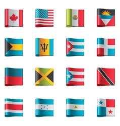 flags - north and central america vector image vector image
