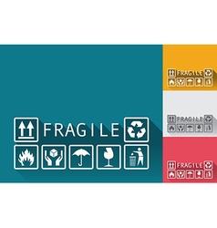 Fragile symbols vector image vector image