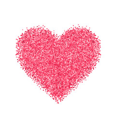 Glitter red heart vector
