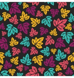 Grape leaves pattern Hand-drawn seamless pattern vector image vector image