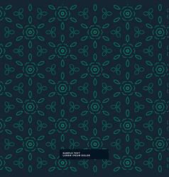 Green flower pattern in dark background vector