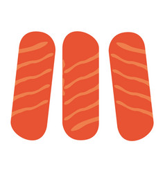 Group of sausages vector