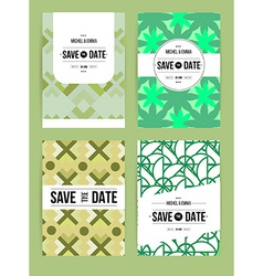 Invite template set vector image
