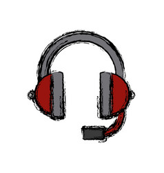 music headphones device vector image