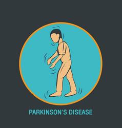 parkinsons disease logo icon design template vector image