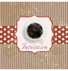 Retro coffee invitation Card vector image vector image