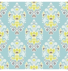 seamless vintage luxury damask floral pattern vector image vector image