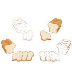 Set of bread vector image