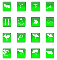 Set of Sixteen Glass Buttons vector image vector image
