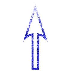 Sharp arrow up grunge textured icon vector