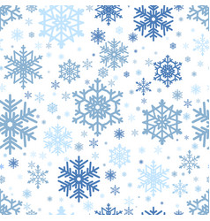 snowflake christmas and new year seamless pattern vector image