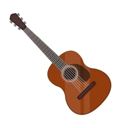 Spanish acoustic guitar icon in cartoon style vector