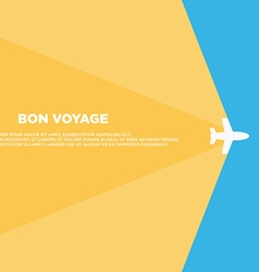 Travel background template poster layout vector