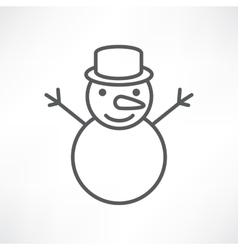 White snowman vector image vector image