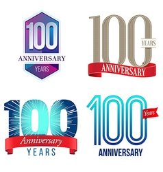 100 years anniversary symbol vector