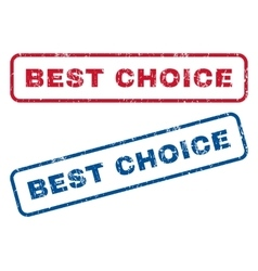 Best Choice Rubber Stamps vector image