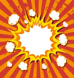Boom comic book explosion vector image