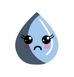 kawaii nice surprised drop water vector image