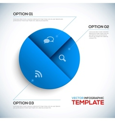 Abstract 3D Infographic template vector image