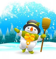 Snowman character vector