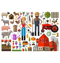 Farm farmhouse farmyard logo design vector
