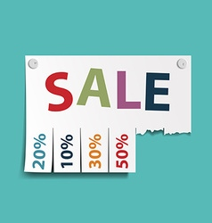 Advertising discounts Stock vector image